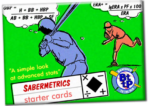 Sabermetrics Starter Baseball Cards wrapper art