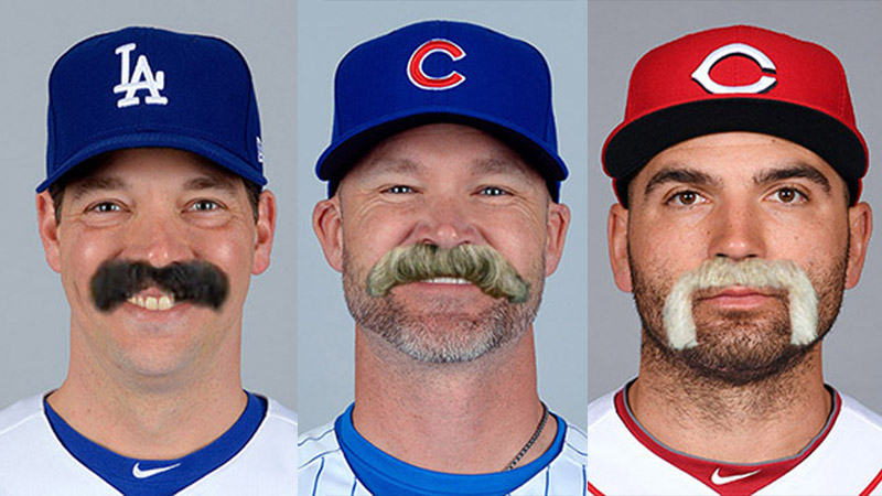 MLB Baseball Mustache Quiz header